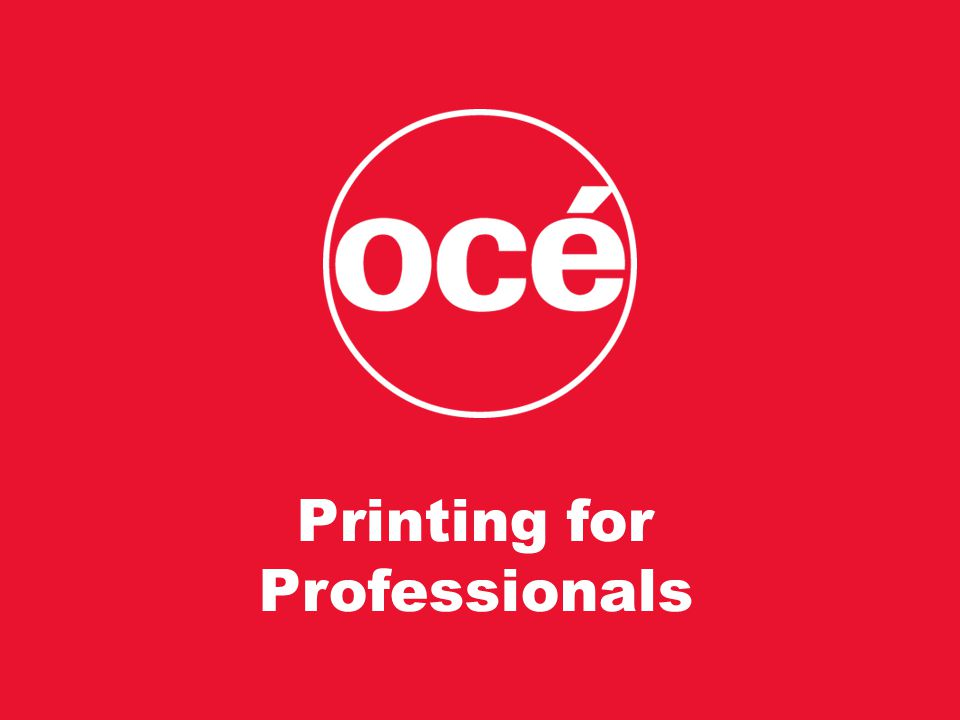 Printing for Professionals