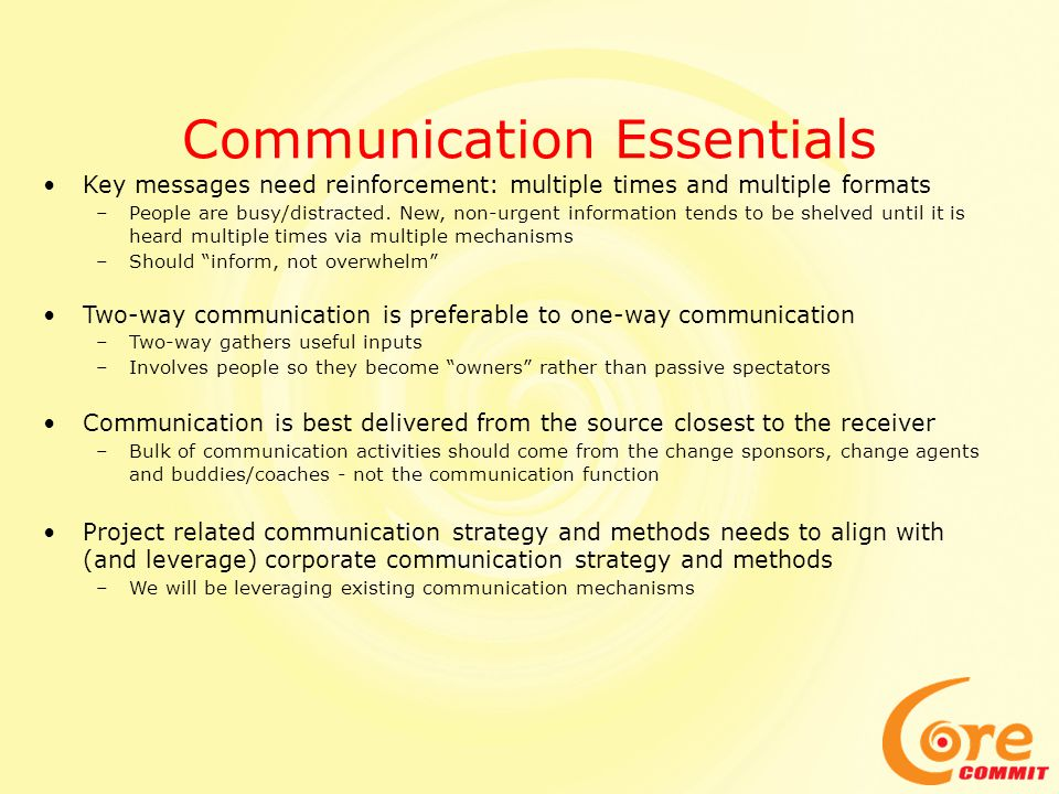 Communication Essentials