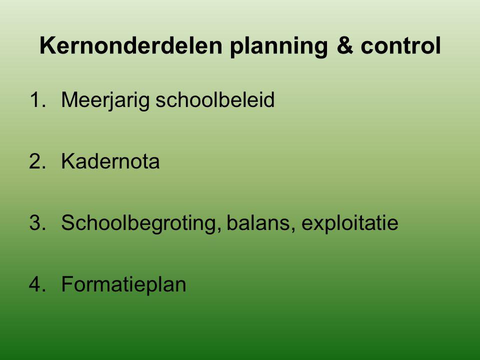 Kernonderdelen planning & control