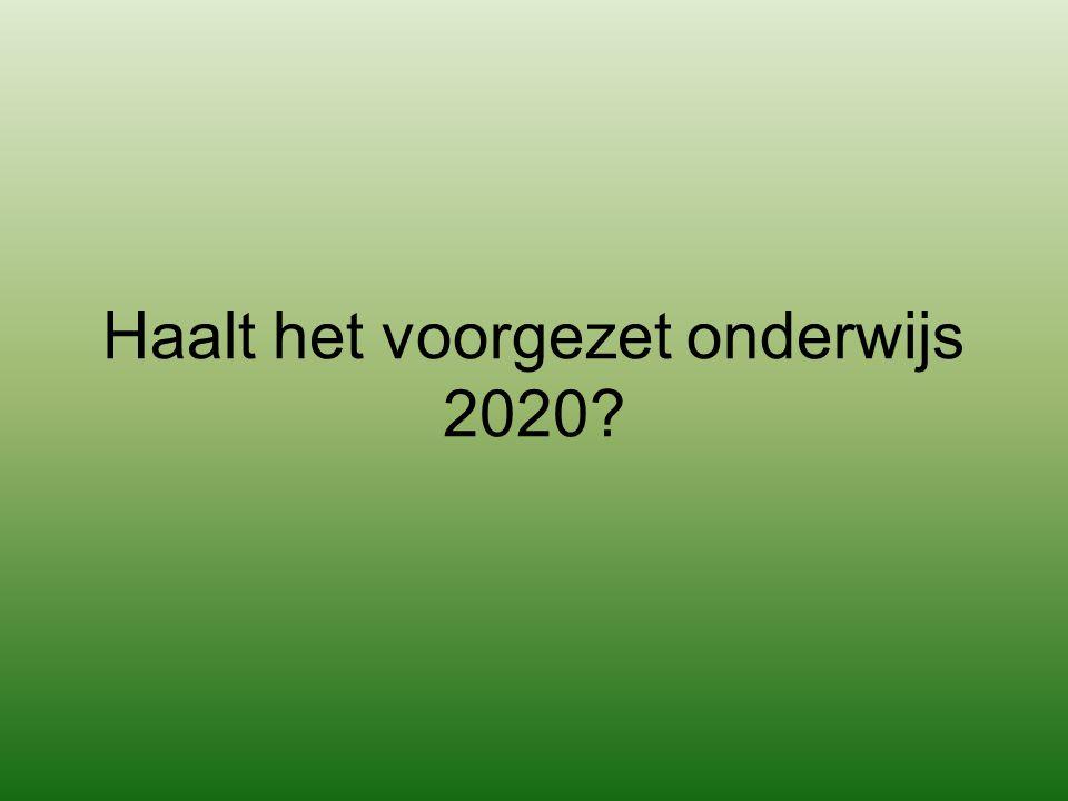 Haalt het voorgezet onderwijs 2020