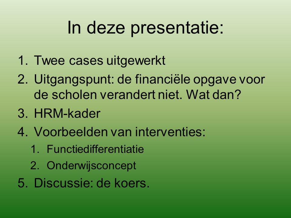 In deze presentatie: Twee cases uitgewerkt