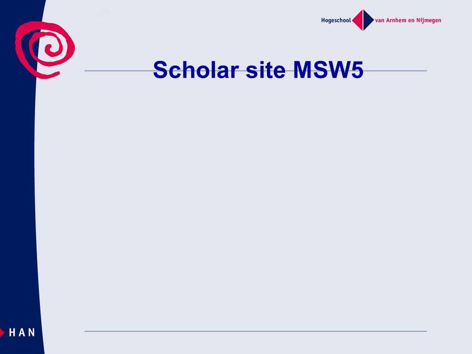 Scholar site MSW5