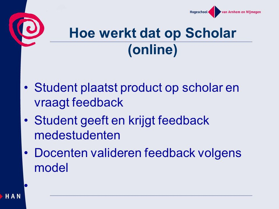 Hoe werkt dat op Scholar (online)