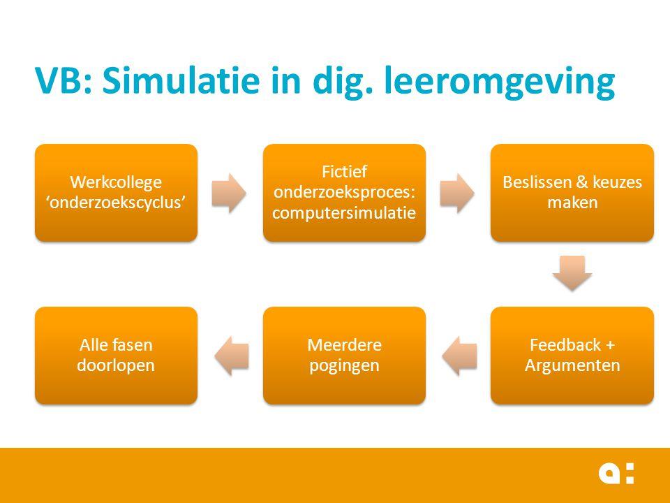 VB: Simulatie in dig. leeromgeving