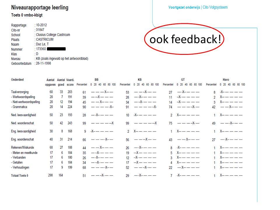 ook feedback!