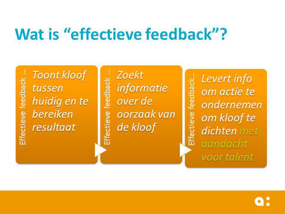 Wat is effectieve feedback