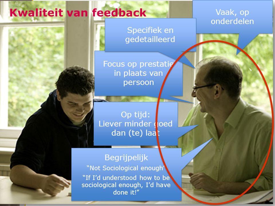 Kwaliteit van feedback