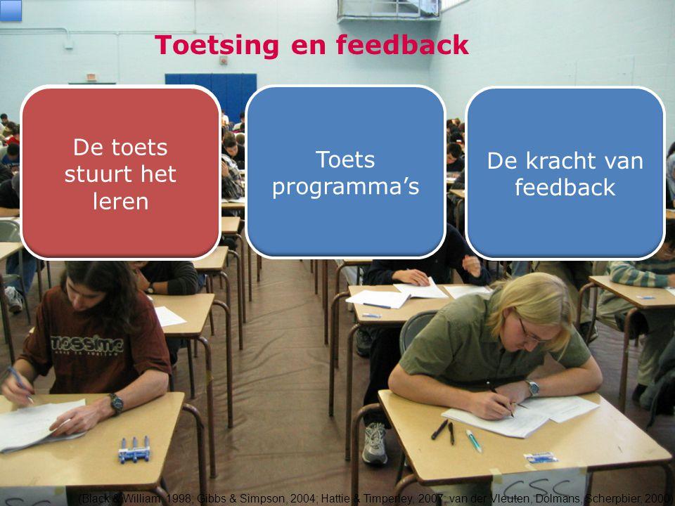 Toetsing en feedback De toets stuurt het leren
