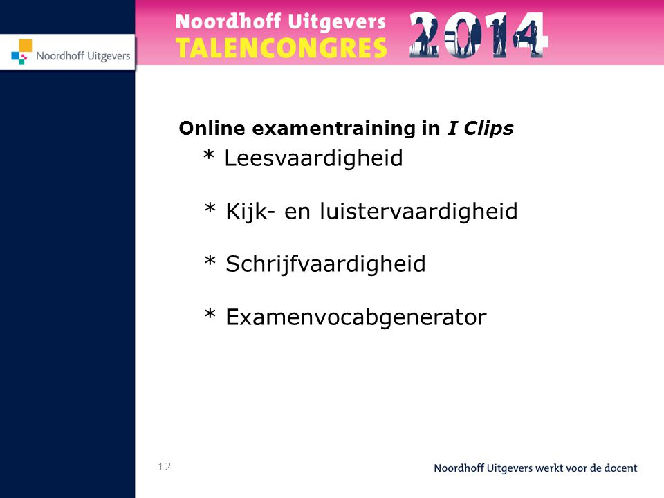 Online examentraining in I Clips