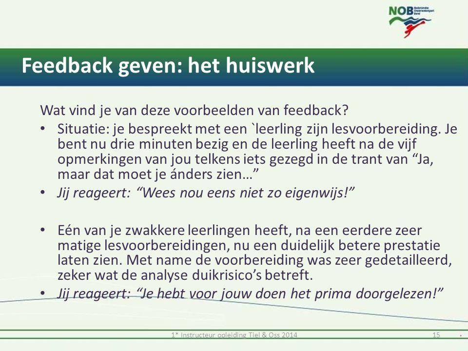 Feedback geven: het huiswerk