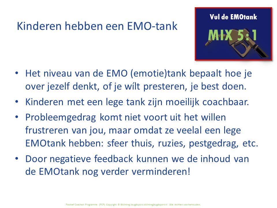 Kinderen hebben een EMO-tank