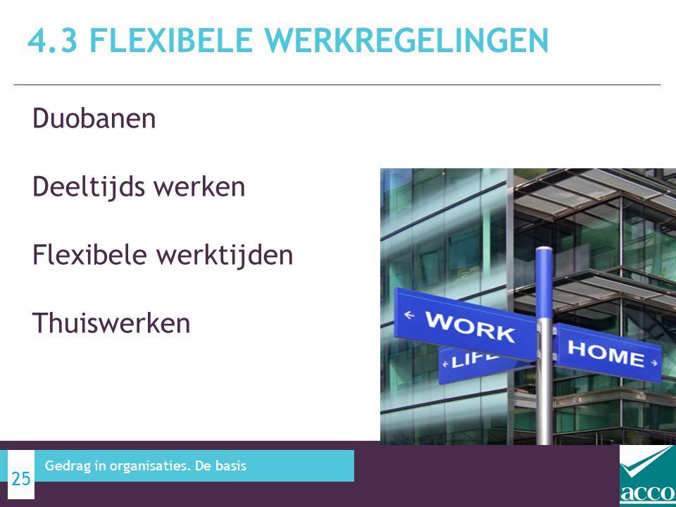 4.3 Flexibele werkregelingen