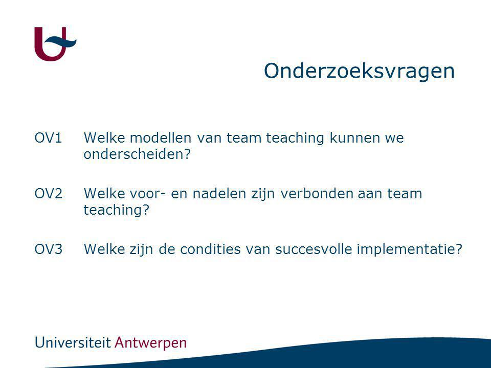 Methodologie Focus: team teaching van aspirant-leraren