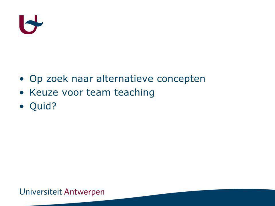 Team teaching Samenwerking Tussen 2 of meer leerkrachten