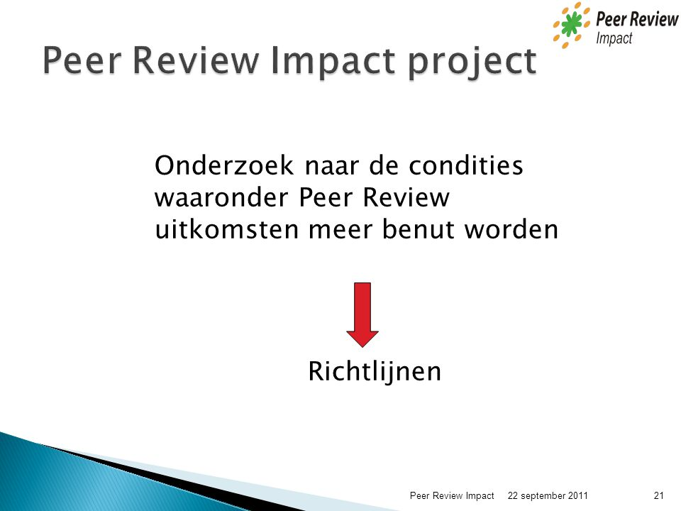 Peer Review Impact project