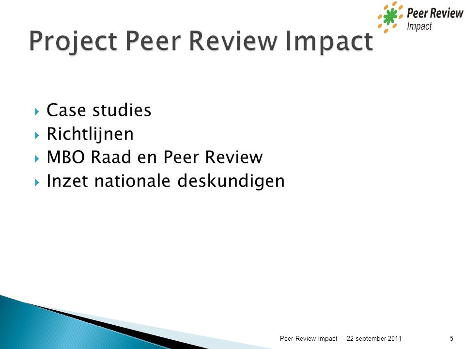 Project Peer Review Impact