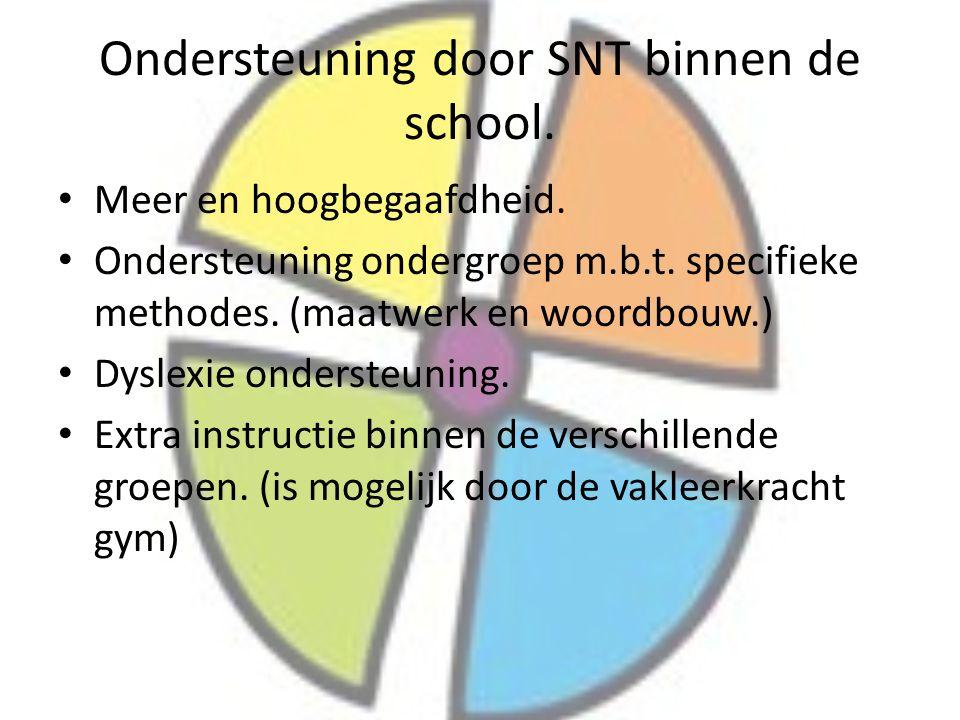 Ondersteuning door SNT binnen de school.