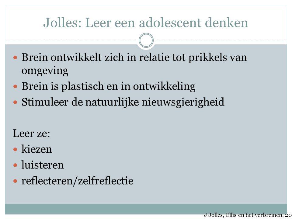 Jolles: Leer een adolescent denken