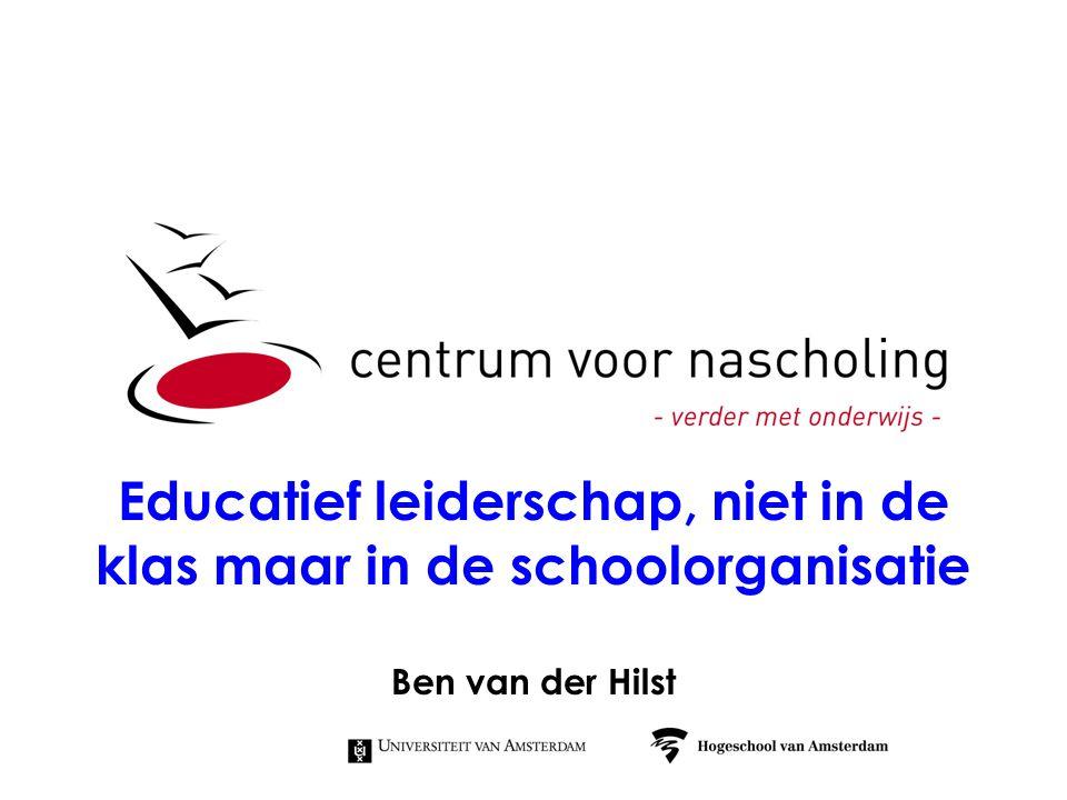 Educatief leiderschap, niet in de klas maar in de schoolorganisatie