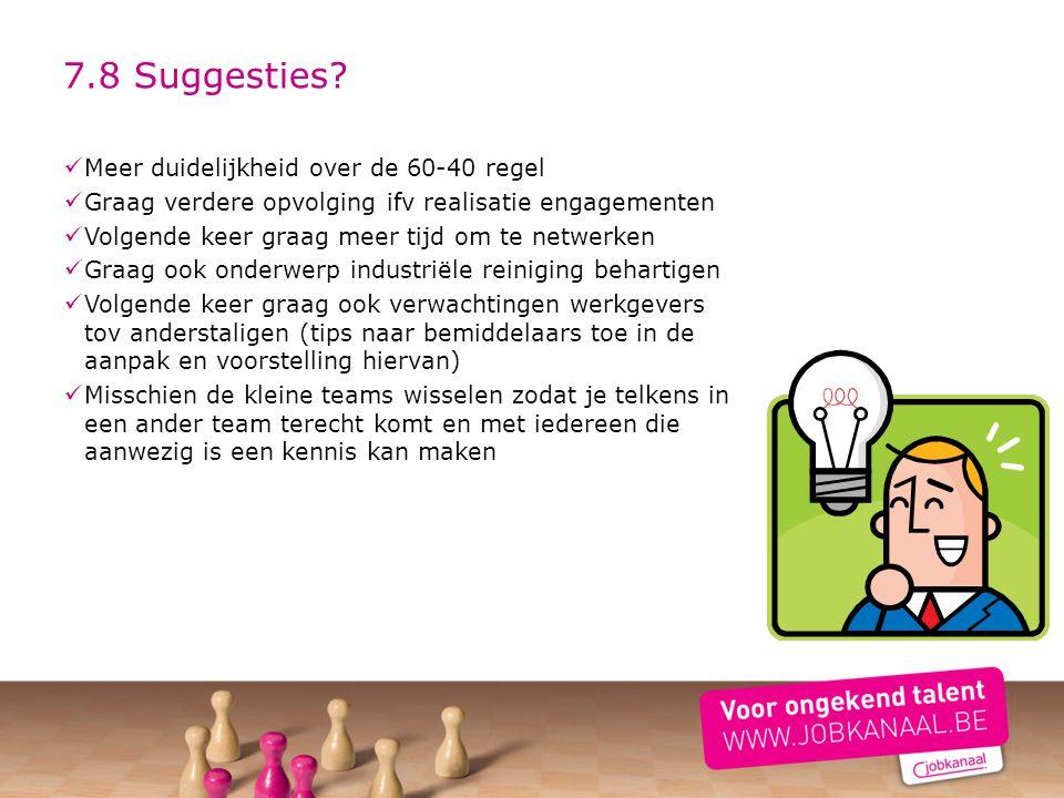 7.8 Suggesties Meer duidelijkheid over de 60-40 regel