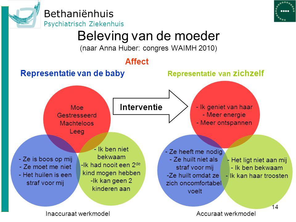 Beleving van de moeder (naar Anna Huber: congres WAIMH 2010)