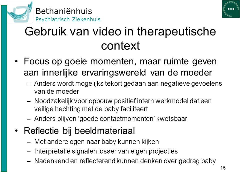 Gebruik van video in therapeutische context