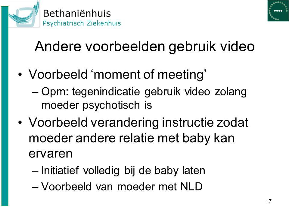 Andere voorbeelden gebruik video