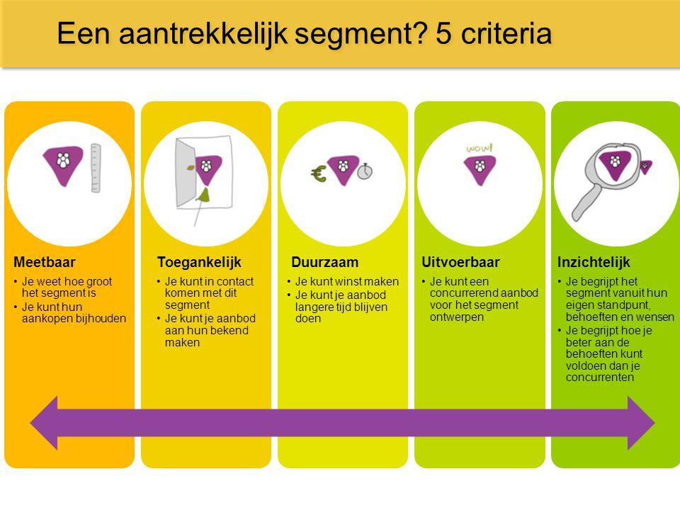 Een aantrekkelijk segment 5 criteria