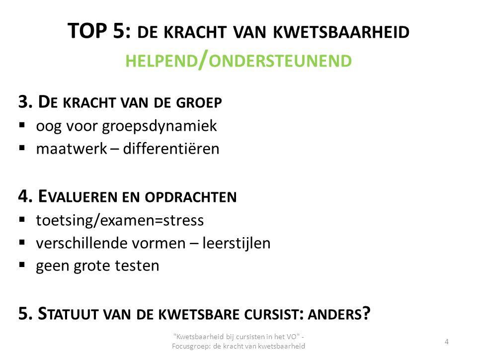 TOP 5: de kracht van kwetsbaarheid helpend/ondersteunend