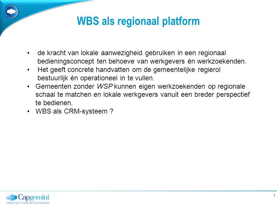 WBS als regionaal platform
