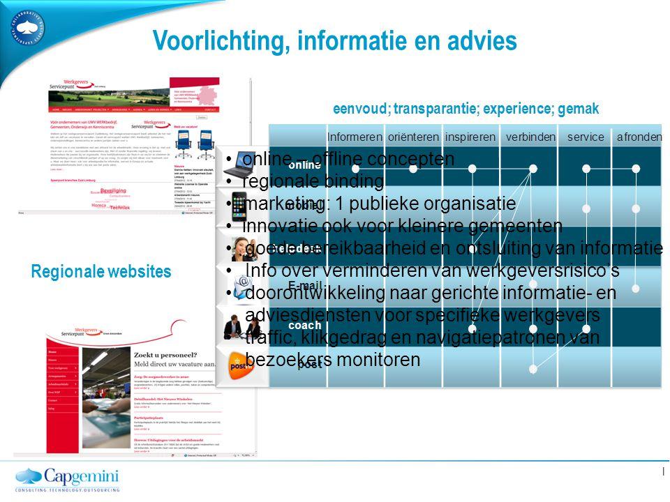 Voorlichting, informatie en advies