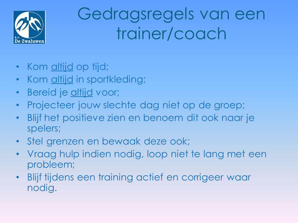 Gedragsregels van een trainer/coach