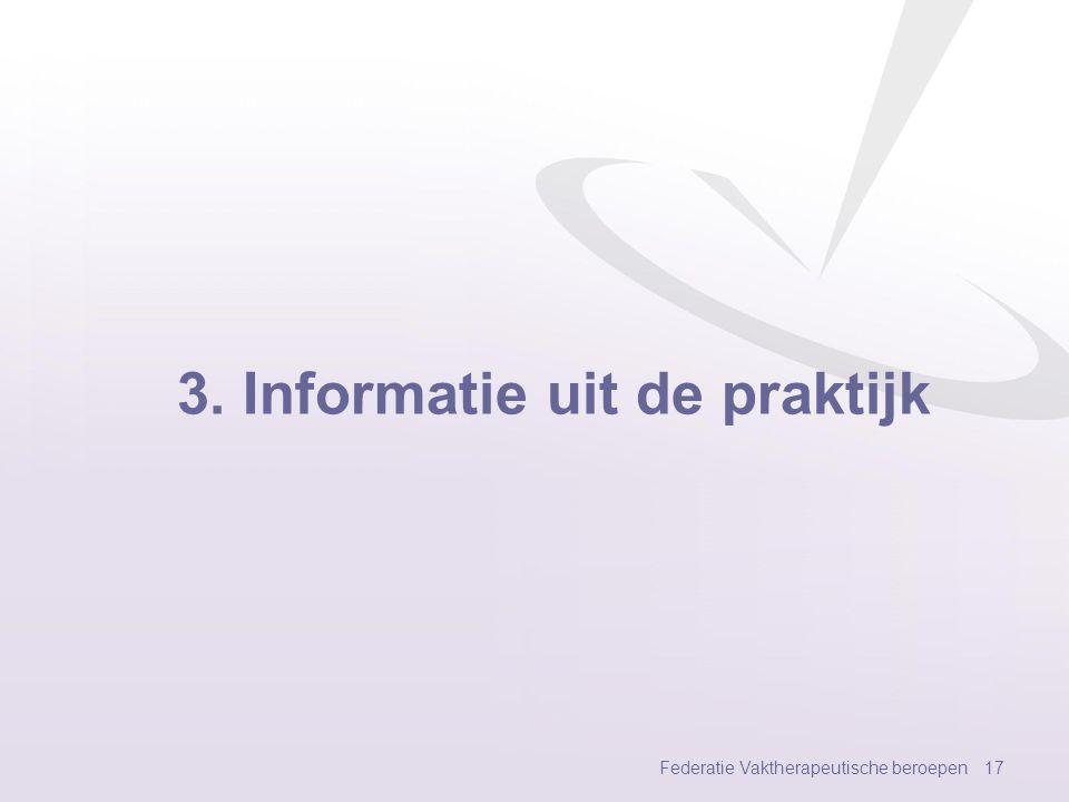 3. Informatie uit de praktijk