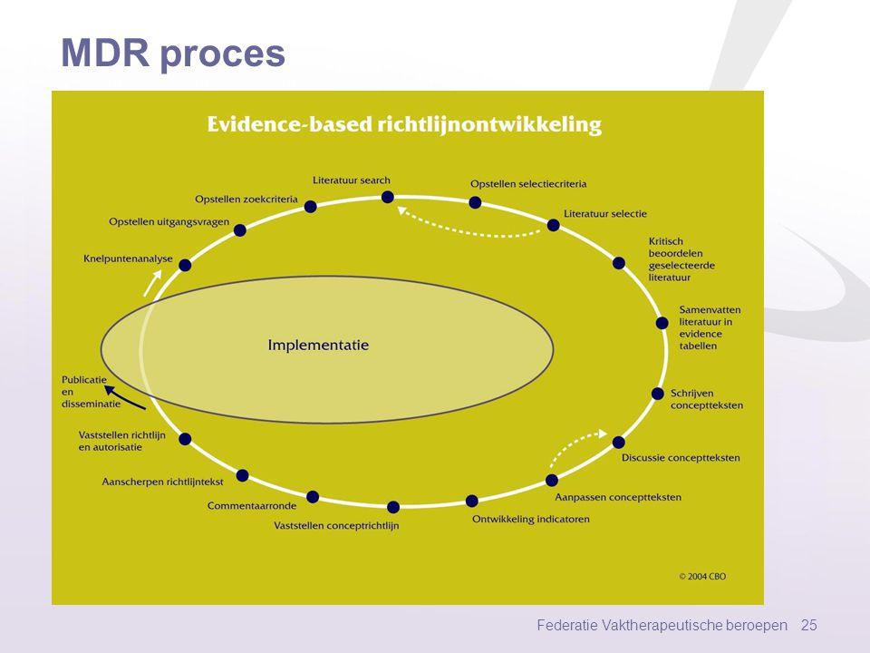 MDR proces Federatie Vaktherapeutische beroepen 25
