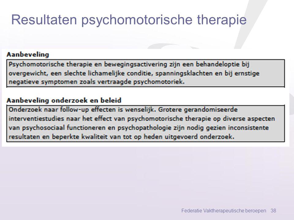 Resultaten psychomotorische therapie