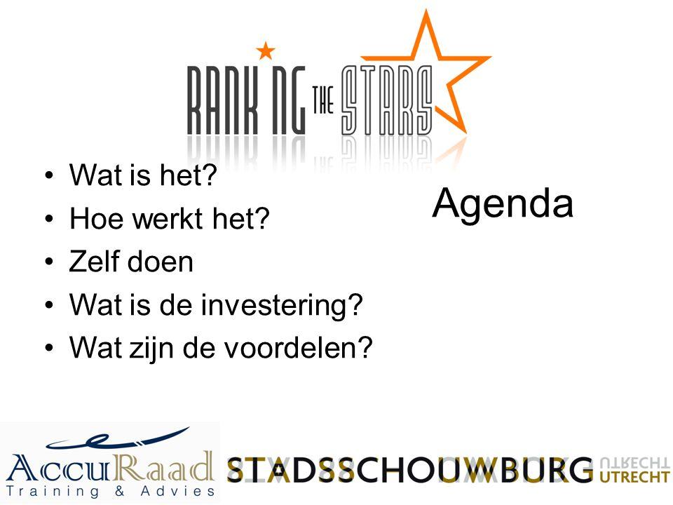 Agenda Wat is het Hoe werkt het Zelf doen Wat is de investering