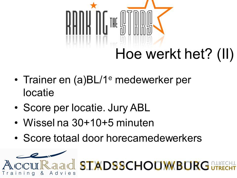 Hoe werkt het (II) Trainer en (a)BL/1e medewerker per locatie