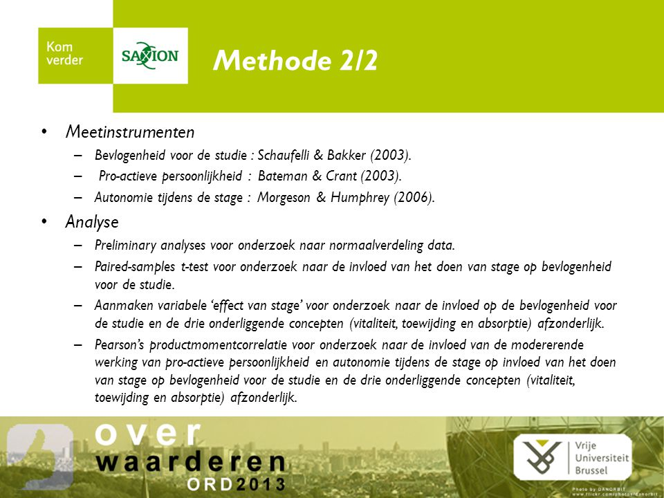 Methode 2/2 Meetinstrumenten Analyse