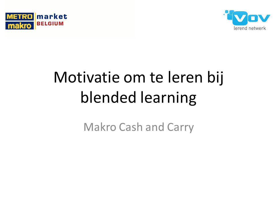 Motivatie om te leren bij blended learning