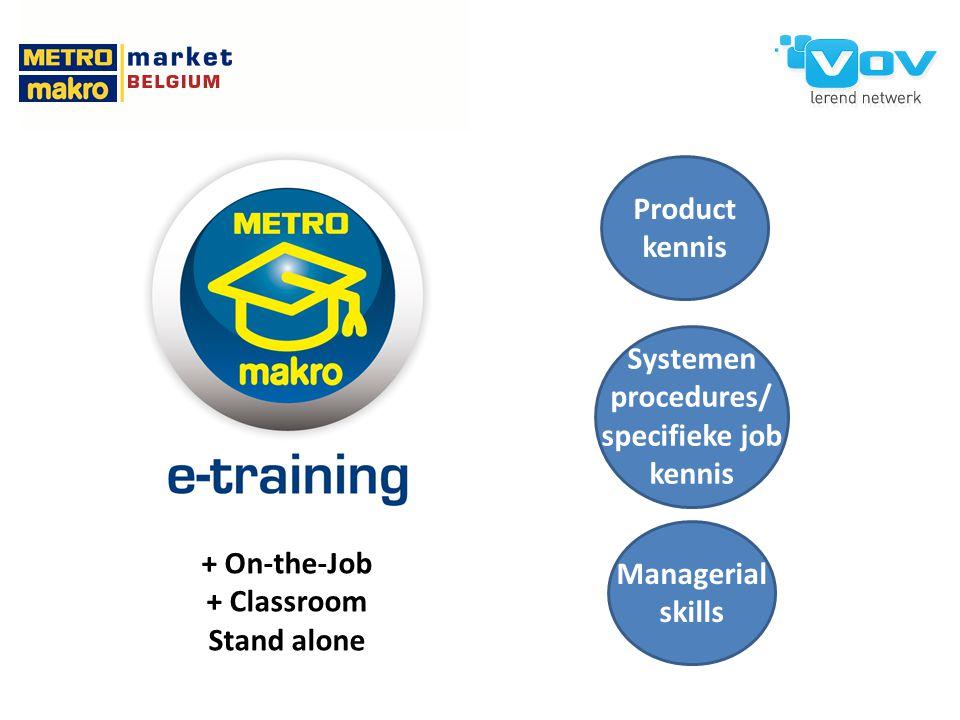 Systemen procedures/ specifieke job kennis