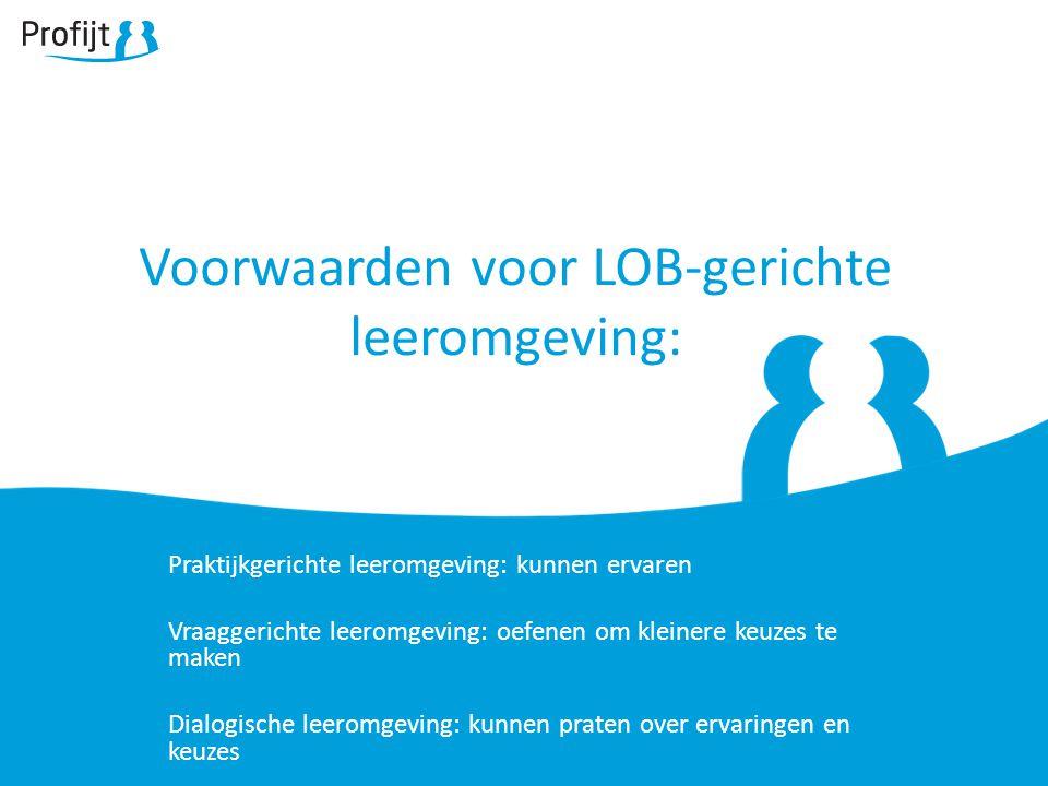 Voorwaarden voor LOB-gerichte leeromgeving: