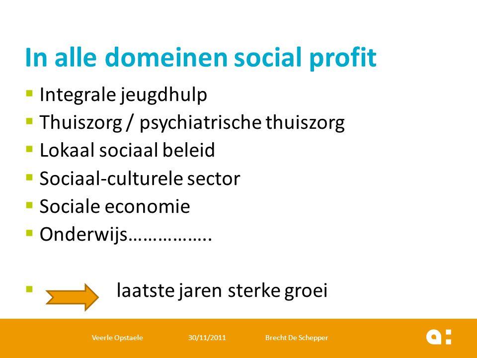 In alle domeinen social profit