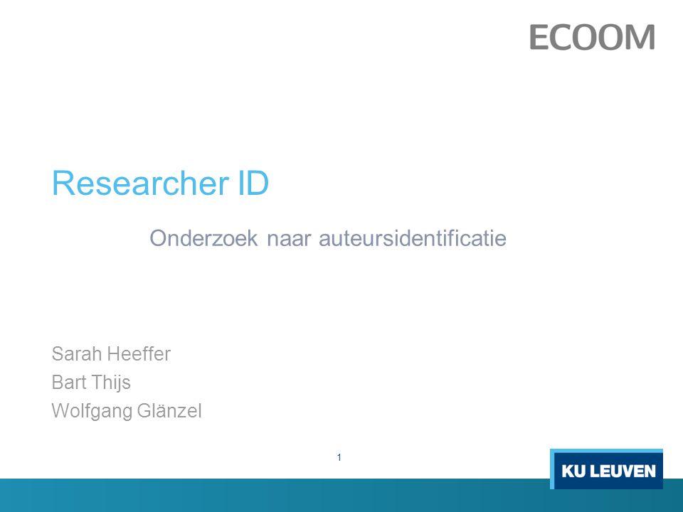 Onderzoek naar auteursidentificatie