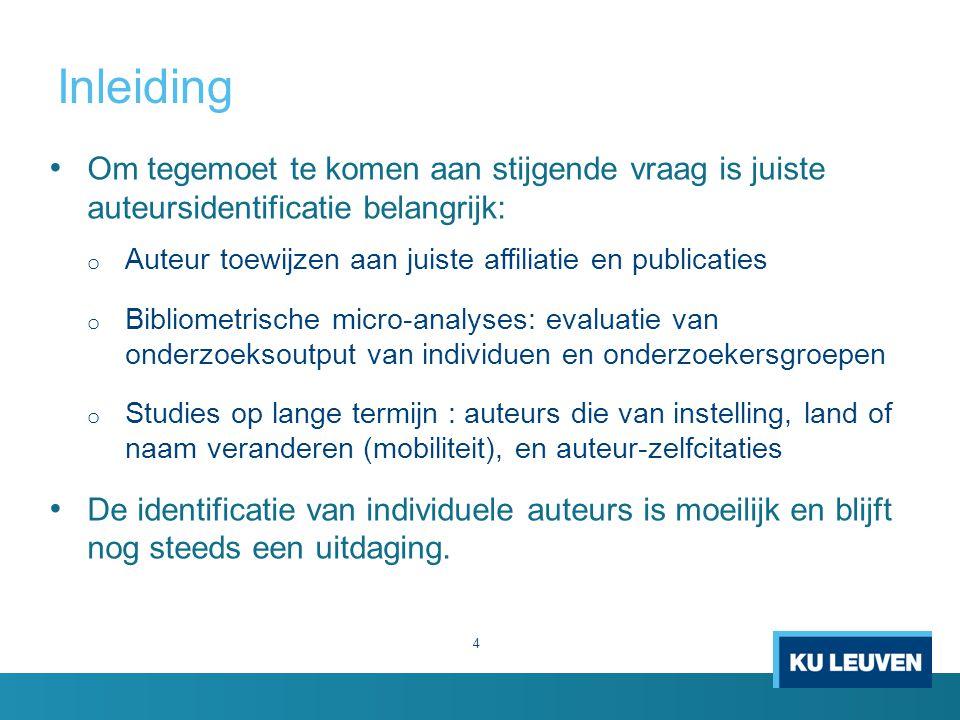 Inleiding Om tegemoet te komen aan stijgende vraag is juiste auteursidentificatie belangrijk: Auteur toewijzen aan juiste affiliatie en publicaties.