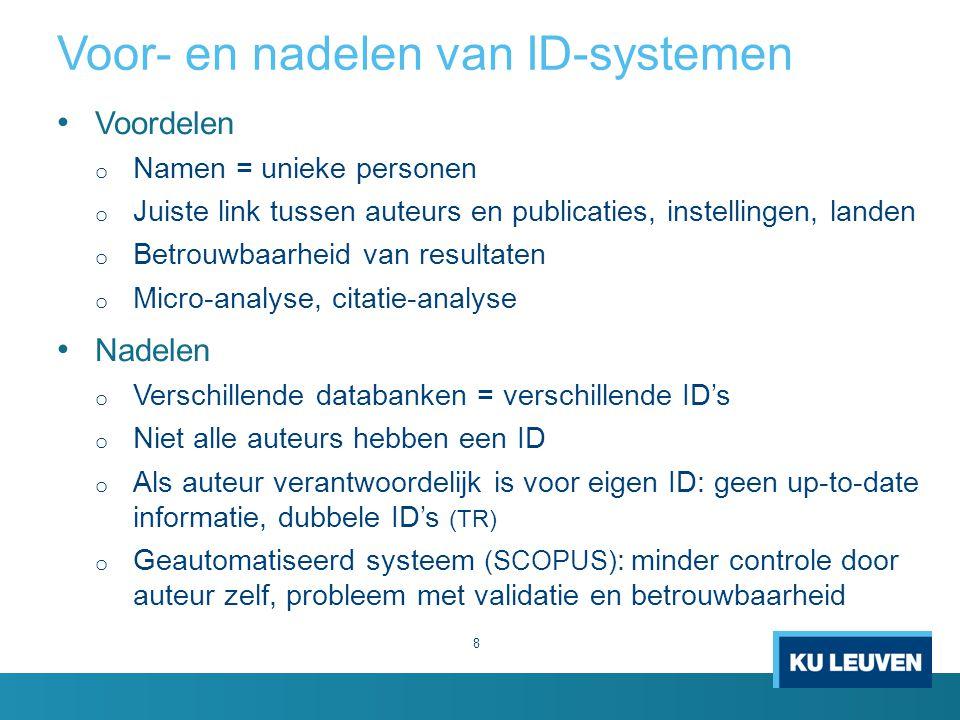 Voor- en nadelen van ID-systemen