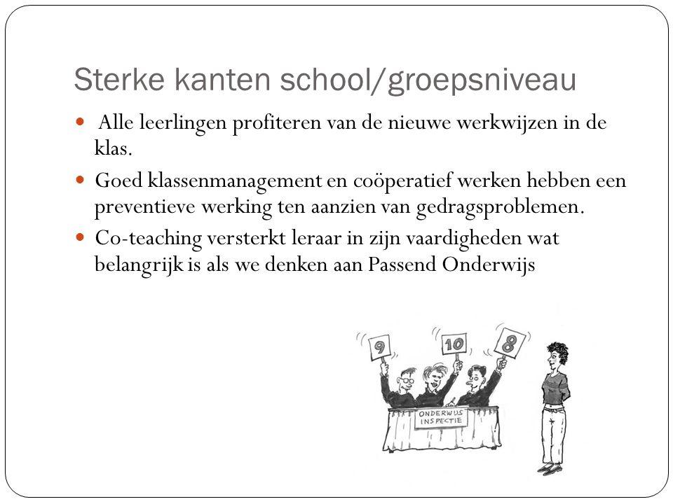 Sterke kanten school/groepsniveau