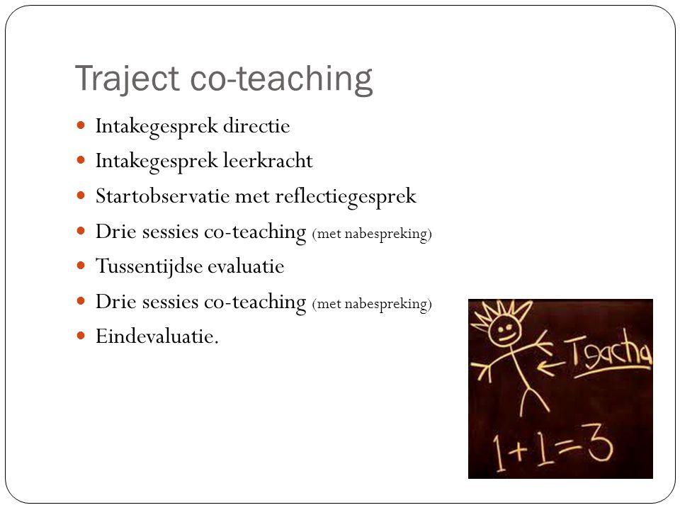 Traject co-teaching Intakegesprek directie Intakegesprek leerkracht