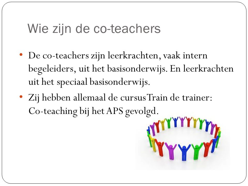 Wie zijn de co-teachers