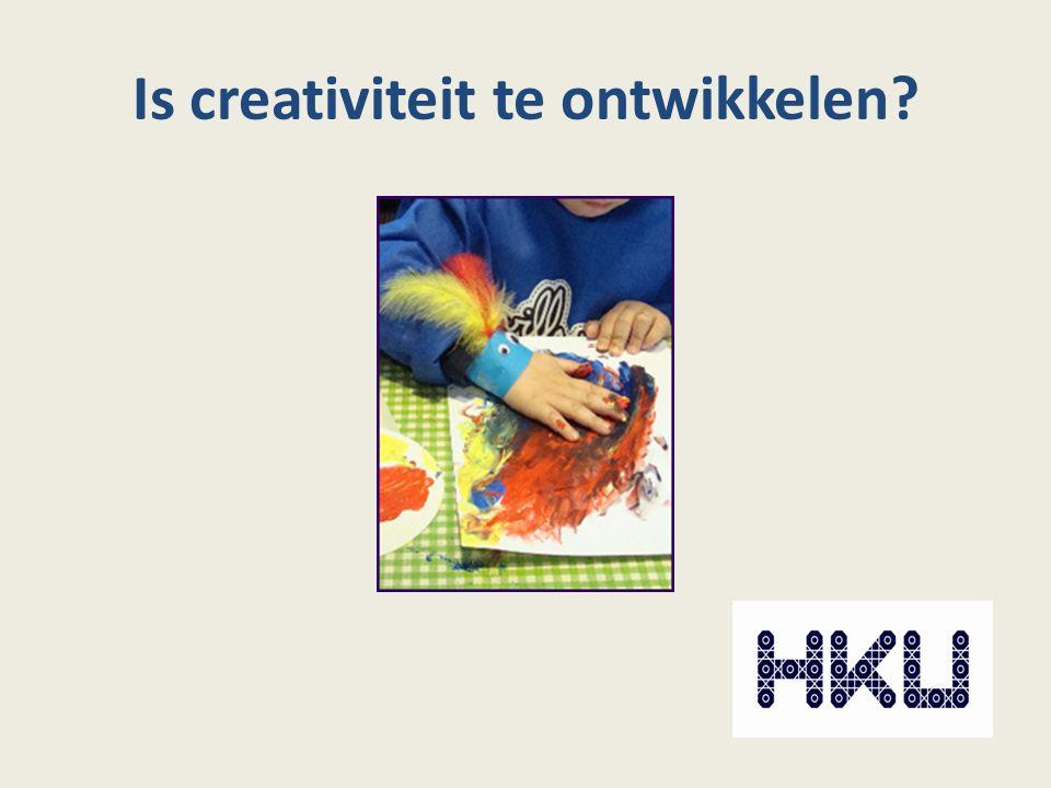 Is creativiteit te ontwikkelen