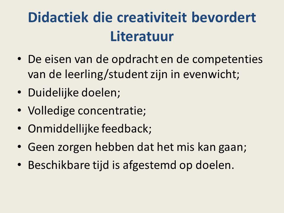Didactiek die creativiteit bevordert Literatuur